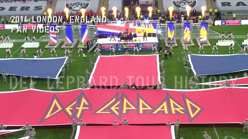 Def Leppard 2014 London NFL Fan Videos.