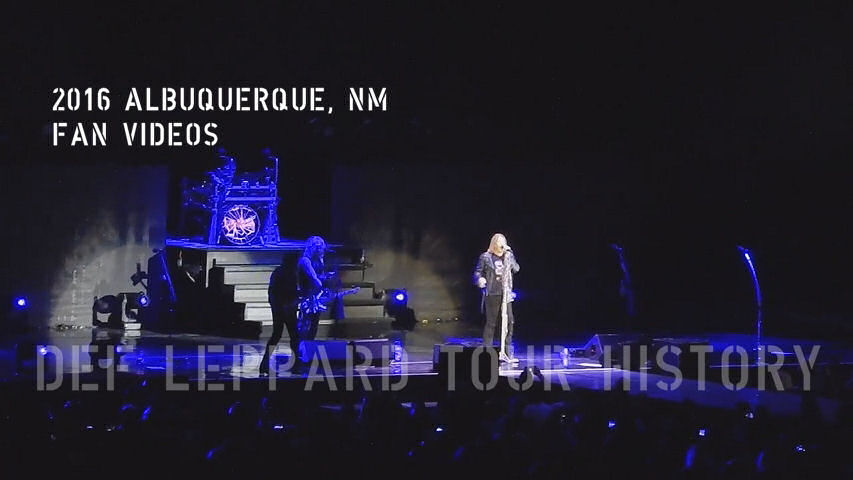 Def Leppard 2016 Albuquerque, NM Fan Videos.