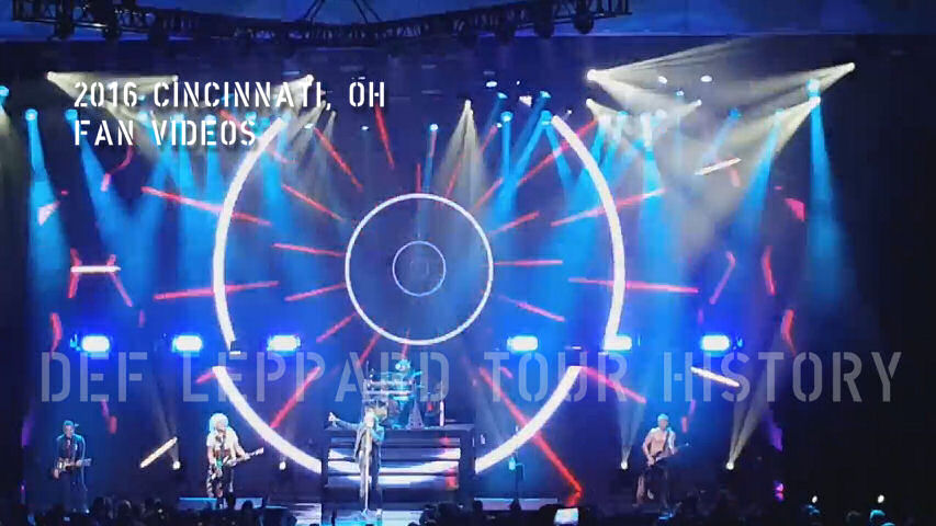 Def Leppard 2016 Cincinnati, OH Fan Videos.