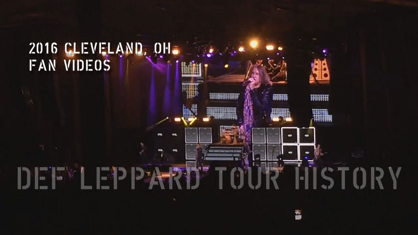 Def Leppard 2016 Cleveland, OH Fan Videos.