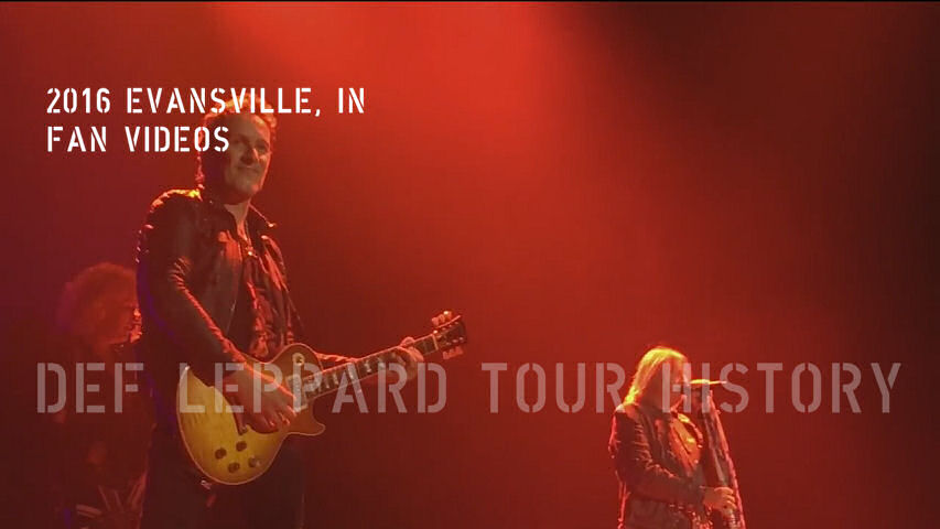 Def Leppard 2016 Evansville, IN Fan Videos.