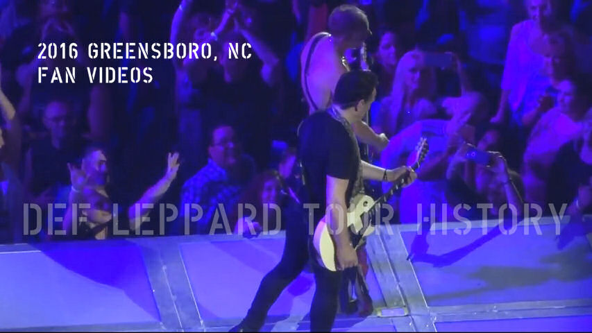 Def Leppard 2016 Greensboro, NC Fan Videos.