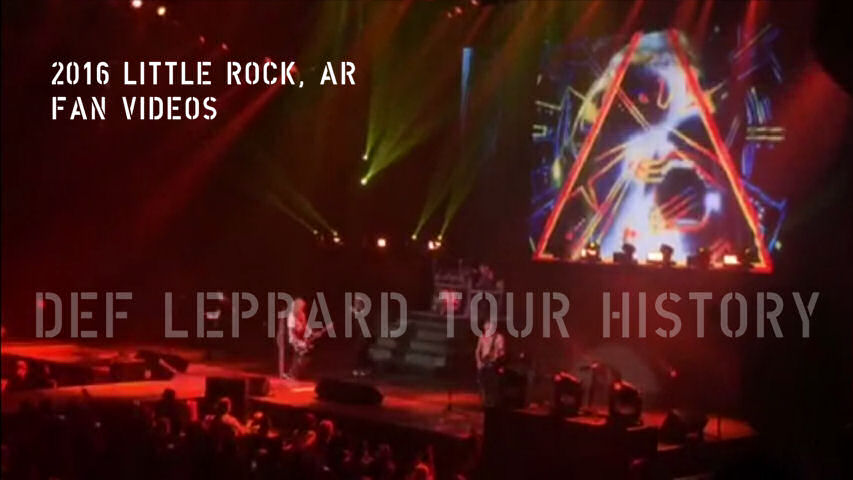Def Leppard 2016 Little Rock, AR Fan Videos.