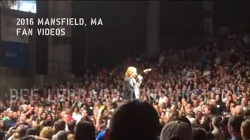 Def Leppard 2016 Mansfield, MA Fan Videos.
