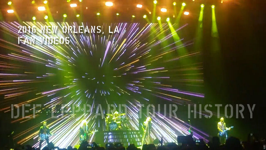 Def Leppard 2016 New Orleans, LA Fan Videos.