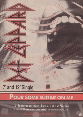 Pour Some Sugar On Me 1987.