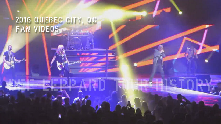 Def Leppard 2016 Quebec City, QC Fan Videos.