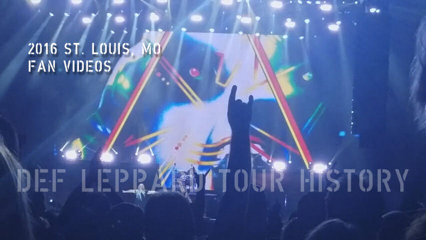 Def Leppard 2016 St. Louis, MO Fan Videos.