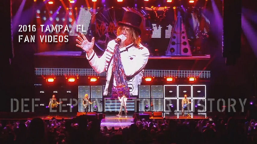 Def Leppard 2016 Tampa, FL Fan Videos.