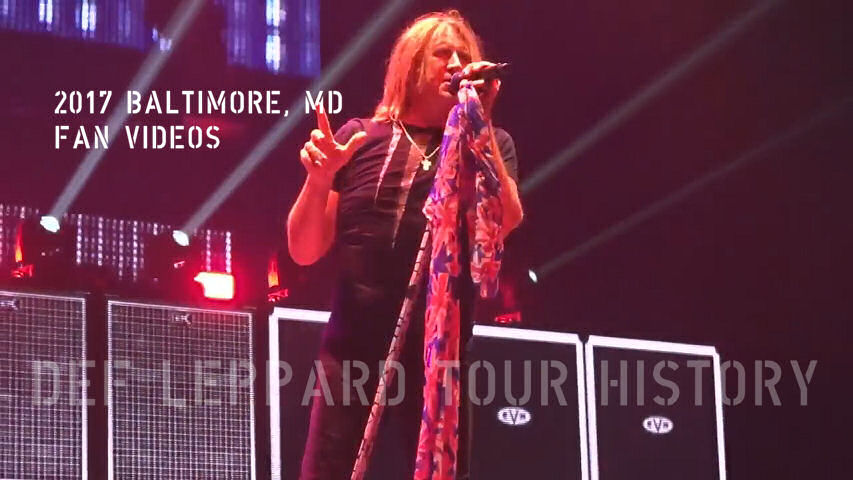 Def Leppard 2017 Baltimore, MD Fan Videos.