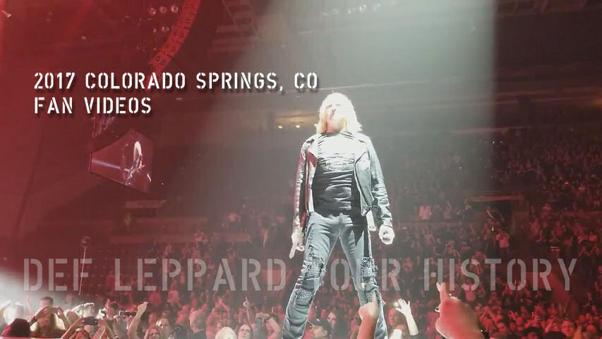 Def Leppard 2017 Colorado Springs, CO Fan Videos.