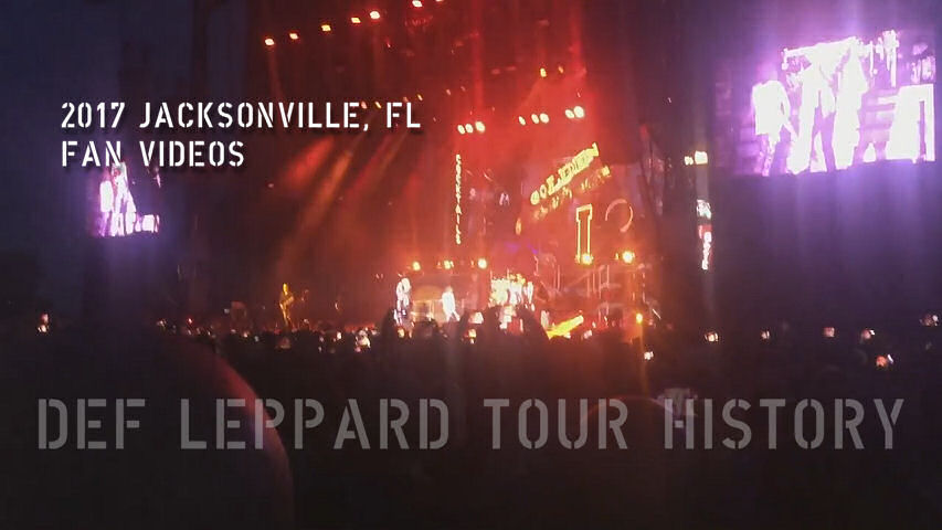Def Leppard 2017 Jacksonville, FL Fan Videos.
