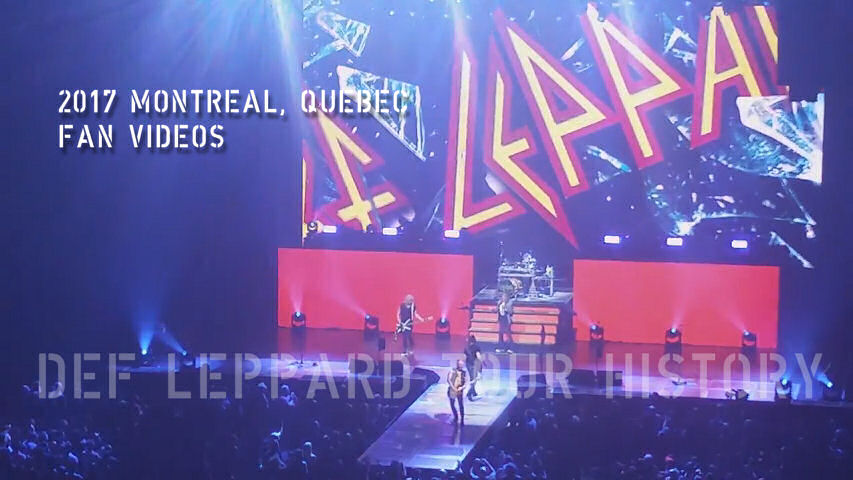 Def Leppard 2017 Montreal, QC Fan Videos.