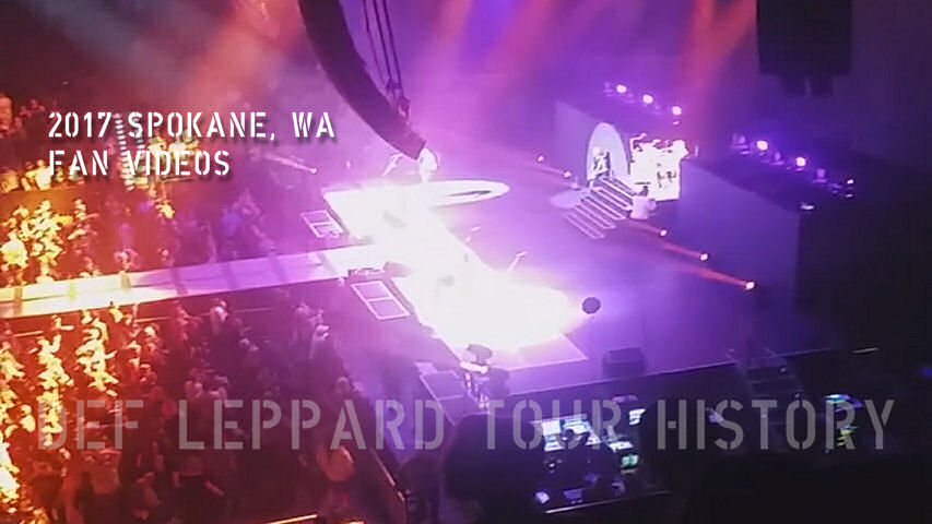 Def Leppard 2017 Spokane, WA Fan Videos.