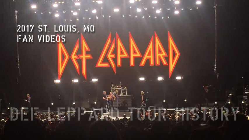 Def Leppard 2017 St. Louis, MO Fan Videos.