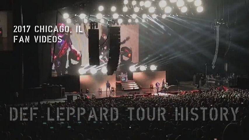Def Leppard 2017 Chicago/Tinley Park, IL Fan Videos.
