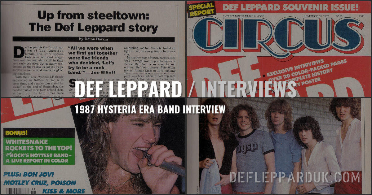 Def Leppard Interview 1987